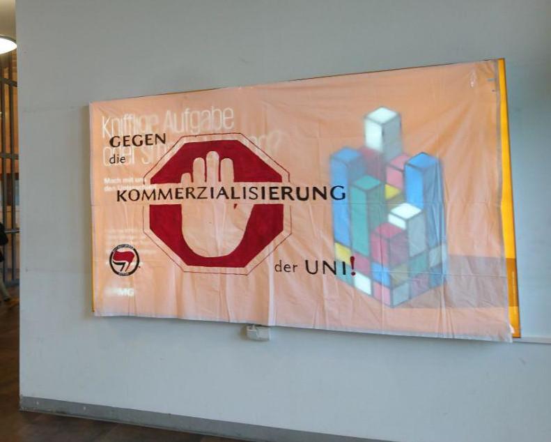 Werbung auf dem Campus